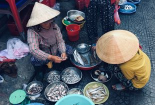 Women working at the market #9