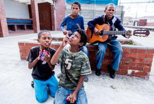 Street musicians in Muizenberg