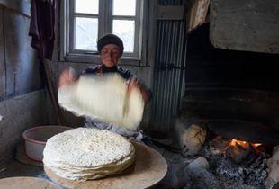Women in Xinaliq Azerbaijan