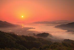Amanohashidate at sunrise