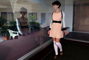 Untitled, Katrin at Empty Mall, 10-15-2015Y