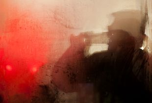 Through A Foggy Berlin Cafe Window
