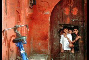 """""""Boys with Bicycle"""", Kathmandu, Nepal."""