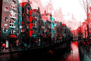 Twilight Redlight district in Amsterdam