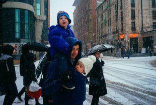 Glasgow sous la neige