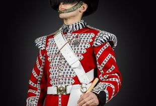 Drummer Steele 1st Battalion The Coldstream Guards, From Soldiery British Army Portraits