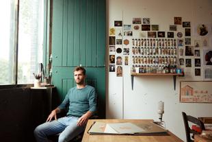 Josh in his studio