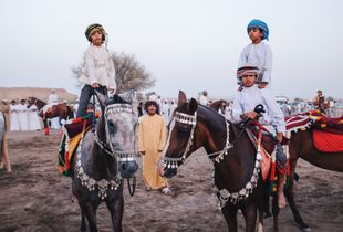 Horses Event in the city of Sur - Oman