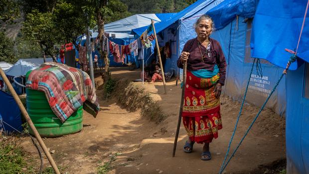 Elderly woman landslide victim