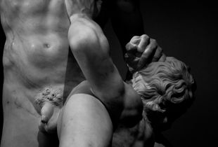 Vincenzo Foggini (first years of XVIII century -1755), Samson and the philistines. (Marble, about 1749). Detail. London, Victoria and Albert Museum. V&A