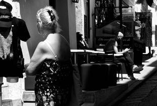People on a street of Banifacio