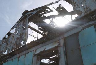 Digital vacant post-apocaliptic building