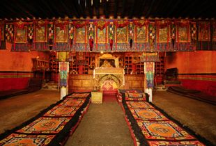 Drolma Lhakhang Monastery near Nyethang, Tibet was built in the 11th century. It was left intact by the Red Guards during the Cultural Revolution after a direct request from the government of Bangladesh. Photographed on 30 June 2005. © Forest McMullin