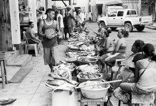 El mercado de pescado de Bluefields