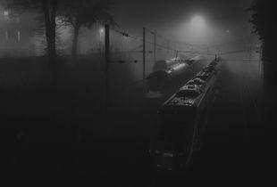 Train on a foggy night