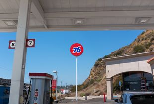 Gas Station, Malibu, Pacific Coast Highway
