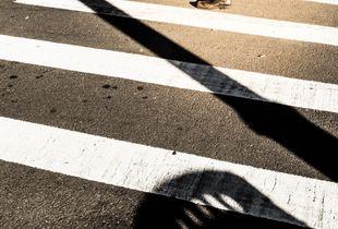 Man is crossing.