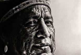 Portrait of the Native American.