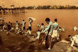 Bathers, Hooghly River, Kolkata, India