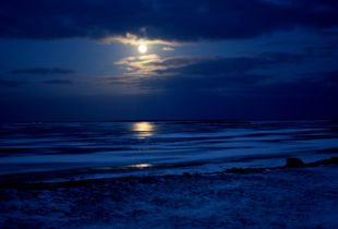 A WINTER MOON-SET IN HAAPSALU