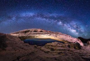 Mesa Arch Milky Way Panorama