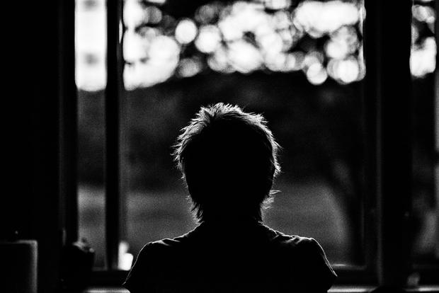 Lee at Kitchen Window