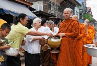 Ashana Bucha Day in Tha Bo, Thailand