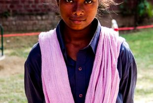 Indian Girl with the pink scarf #1