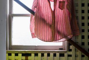 Her Red-Striped Pajamas