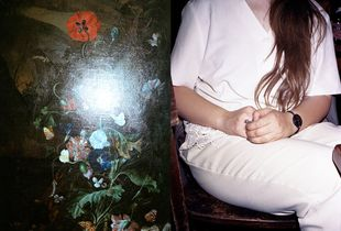 kelvin flowers and Alja in white