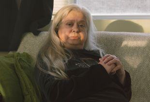 Mom Sitting on the Futon, 2018
