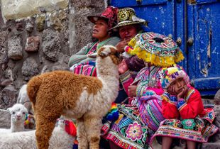 A group of Street Vendors in Cuzco