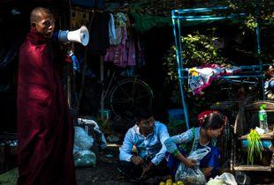 street scene, morning, Yangon