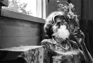 Grandmother with Cigar