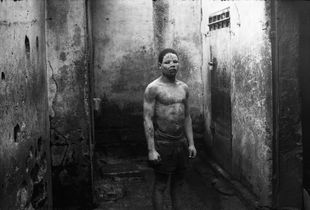 Street boy in the Central Prison of Douala