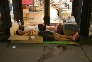 Homeless Couple-In Front of Furniture Store, West 18th Street, July 26th, 2018, 11:09:47