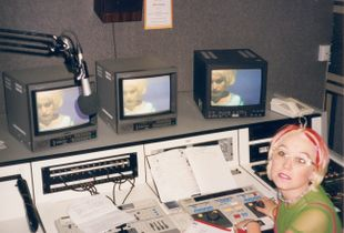 Daily Photo 1997 - Kezia Editing Kezia's in a Wig