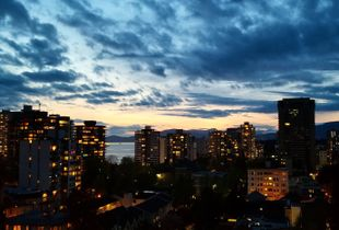Night sky over Vancouver