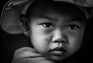 Timid Vietnamese girl