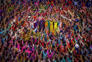 Vietnamese traditional long dress festival