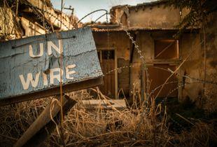 The UN Wire inside the Buffer Zone.