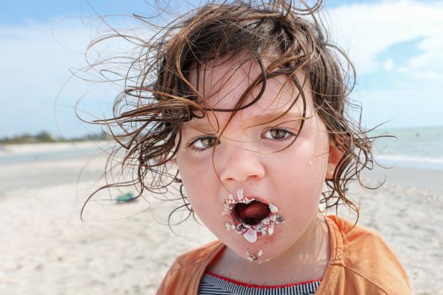 Mouthful of beach