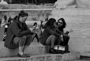 Rome street scenes. Piazza del Popolo