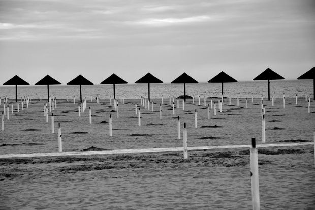 spiaggia durante il covid
