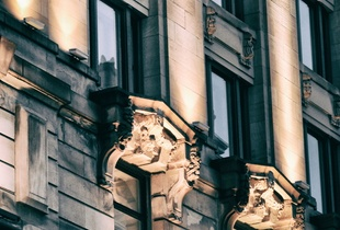 Detail: Bank on Rue Notre Dame
