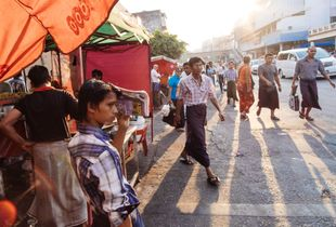 Streets of Yangon.