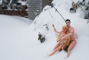 It's too cold to get naked in the snow, but sex will make you steamy.  © Katsumi Saiki