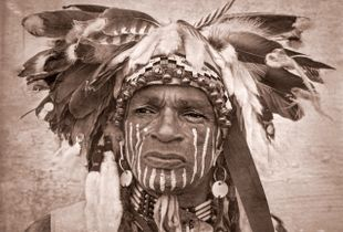 Portrait of a Blackfoot Indian