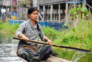 Calm Waters (Fishermen's village on Inle Lake, Myanmar)