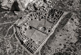 Aerial View, Pueblo Bonito (Chaco Culture Historical Park, NM)
